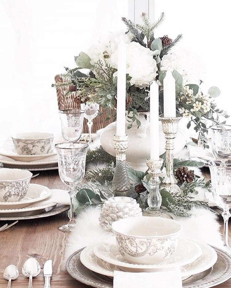 56 WONDERFUL AND CAREFUL CHRISTMAS TABLES Pictures 12