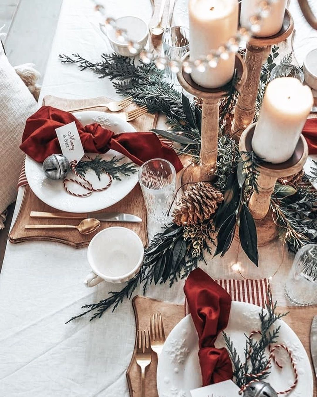 56 WONDERFUL AND CAREFUL CHRISTMAS TABLES Pictures 13