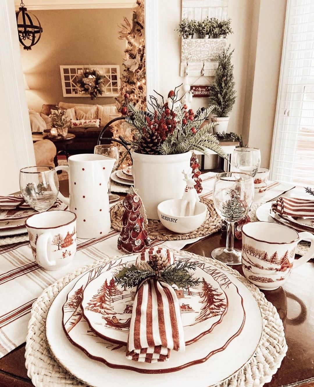 56 WONDERFUL AND CAREFUL CHRISTMAS TABLES Pictures 16