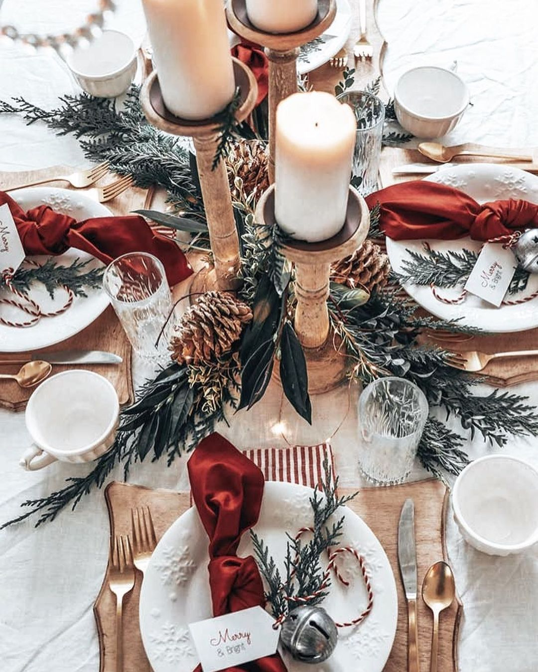 56 WONDERFUL AND CAREFUL CHRISTMAS TABLES Pictures 18