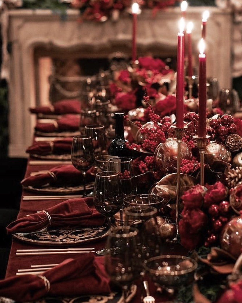 56 WONDERFUL AND CAREFUL CHRISTMAS TABLES Pictures 21