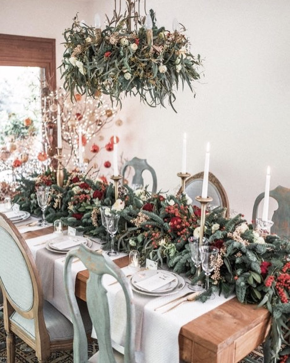 56 WONDERFUL AND CAREFUL CHRISTMAS TABLES Pictures 9